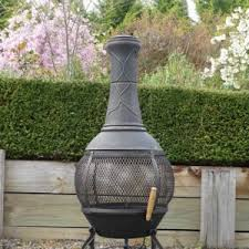 Cast Iron Outdoor Fireplace by Exterior Design La Hacienda Circo Chiminea In Black For Patio