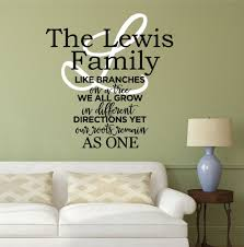 family wall decal quote by decor designs decals family like branches