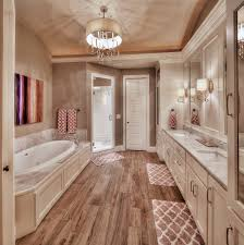 Master Bathroom Floor Plans With Walk In Shower by Master Bathroom Hardwood Floors Large Tub His And Her Sink