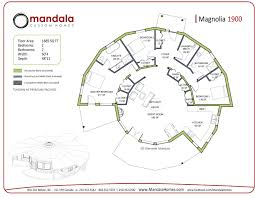 Yurt Floor Plans by Magnolia Series Floor Plans Mandala Homes Prefab Round Homes