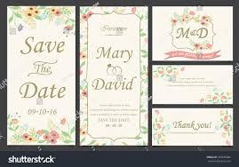 wedding invitation love valentines day template stock vector