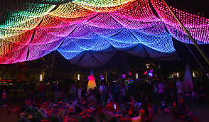 the lights festival houston 2016 enchanted promenade firmament discovery green visual hive