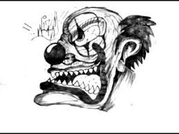 how to draw a evil clown tutorial youtube