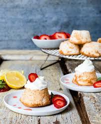 mini gluten free grain free angel food cakes with berries