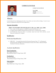 Example Of Resume Work Experience by Cv Sample U2013 Azzurra Castle Grenada
