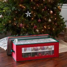 christmas ornament storage box window vision 36 pc ornament storage box