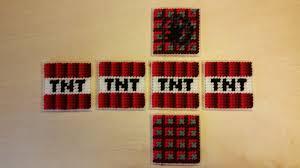 plastic canvas pattern for minecraft tnt block yarngames