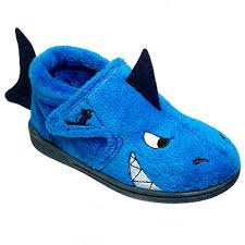 chipmunks boys blue shark slipper debenhams