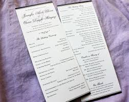 formal wedding programs formal black border scroll accent with purple watermark monogram