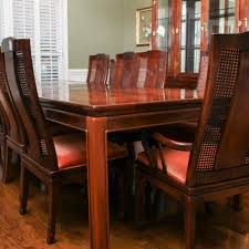 oriental dining room set asian style bernhardt dining table and chairs ebth
