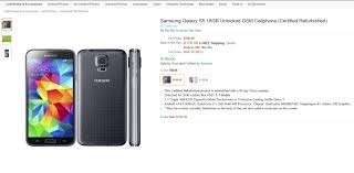 amazon black friday unlocked phone deals deal get a galaxy s5 certified refurb for just 160 on amazon