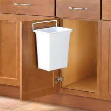 kitchen cabinet waste bins kitchen cabinet trash can cans built in for door mounted garbage