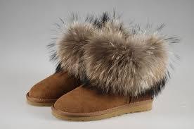 womens ugg boots fox fur style ugg 5854 fox fur boots mini camel boots