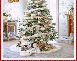 fur christmas faux fur tree skirt etsy