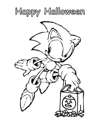 sonic halloween coloring u0026 coloring pages