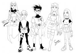 30 teen titans coloring pages coloringstar