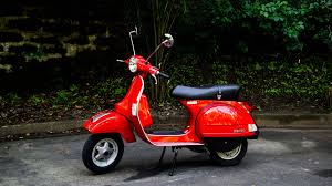 vespa px 150 keeps the old schooler flame top gear ph