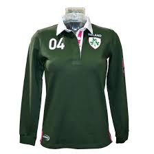 ladies ireland shamrock rugby top official lansdowne products