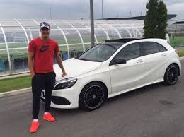mercedes in manchester manchester city fc player kjetil haug with his mercedes