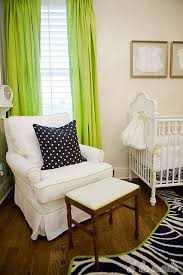 Navy And Green Curtains At Glance I Thought Everything Was Black And White And Just