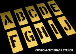 brass metal stencils alphabet stencil custom stencils