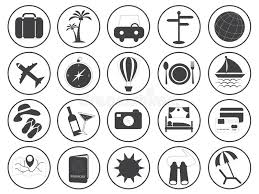 travel icons images Travel icons vector collection stock vector illustration of jpg