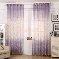 Sheer Purple Curtains by Colorful Curtains Crushed Single Curtain Panel Filder Sheer