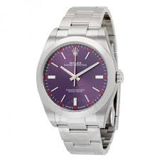 39 Off Ralph Lauren Jewelry Rolex Oyster Perpetual 39 Red Grape Dial Stainless Steel Bracelet