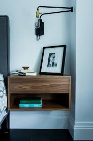 Modern Single Bed Designs With Storage Bedroom Cool Black Narrow Small Nightstand Glossy Wooden