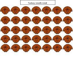 math ideas for turkey theme