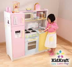 jeu de cuisine enfant cuisine en bois pour enfant pastel en bois 107x41x109cm sur