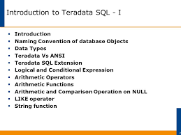 format date teradata introduction to teradata sql ppt download