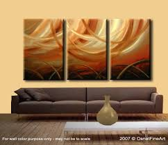 abstract painting triptych home decor painting 3319