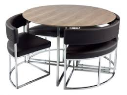 compact dining table and chairs compact orbit modern dining table set from dwell compact dining