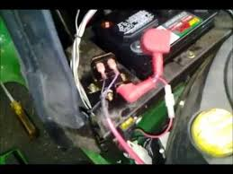 how to test replace a solenoid on a la125 deere mower