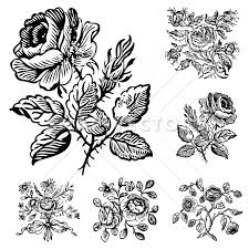 vector clipart vintage flower and ornaments snap vectors