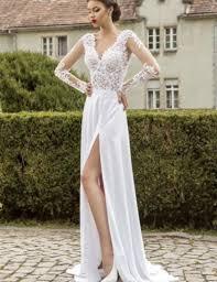 beach wedding dresses 2016 lace long sleeves boho wedding dresses