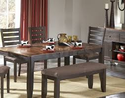 Furniture Dining Room Set Bench Luxury Natick 6 Pc Dining Set Table Bench And 4 Side