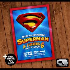 superman invitation superman invite superman birthday
