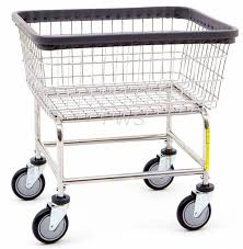 r u0026b wire 100e rolling standard laundry cart chrome basket on wheels