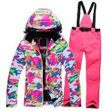 gsou snow ski suit women waterproof ski jacket pants winter