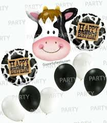 cow print balloons cow print party supplies