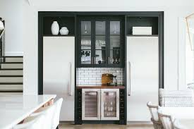 kitchen alcove ideas kitchen bar with mini wine fridge and beverage fridge