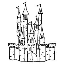 castle outline free download digital scrapbooking template