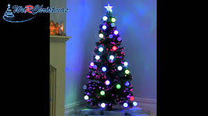 5 ft pre lit fibre optic christmas tree with flashing led ball