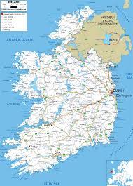 Dublin Ireland Map Detailed Clear Large Road Map Of Ireland Ezilon Maps