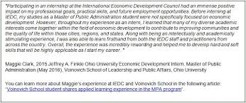 international economic development council internships