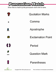 punctuation worksheets for kindergarten free worksheets library