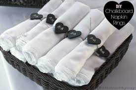 napkin ring ideas chalkboard napkin rings