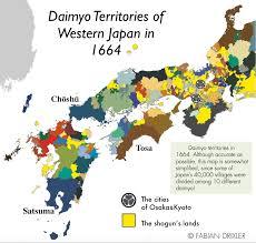 Map Of Western Asia by Daimyo Territories In Western Japan 1664 By Fabian Drixler Map